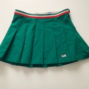 Vintage Fila Tennis Skirt Size Medium Green